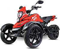 "CARB Approved Saber 200cc Motor Trike Automatic w/ Reverse, 14"" Big Tires, Front & Rear Disc Brakes, Digital Dash, Extra LED Light, 99.9% Assembled! Street legal in all 50 States! Free shipping to door, free helmet, 1 year bumper to bumper warranty."
