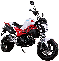 """ICE BEAR """"Little Monster"""" 125cc Street Bike Motorcycle Air Cooled Manual 4 Speed, Dual Disc Brakes, Inverted Forks, 12"""" Tires, LONCIN Motor (PMZ125-2). Free shipping to your door. Free helmet. 1 year warranty."""